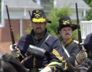 Civil War reenactment in Fairfax VA